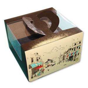 Бумажная тортовая упаковка 250х250х160 - 1 кг. - Рандеву