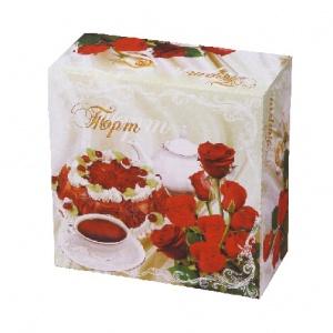 Бумажная тортовая упаковка 250х250х130 - 1,5 кг.