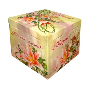 Картонная тортовая упаковка 420х420х450 Лилия - 5 кг.