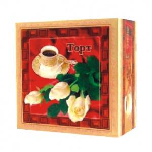 Бумажная тортовая упаковка 170х170х90 - 0,5 кг.