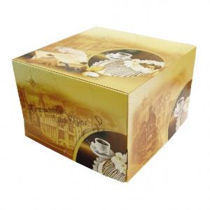 Картонная тортовая упаковка 420х420х300 Путешествие - 5 кг.
