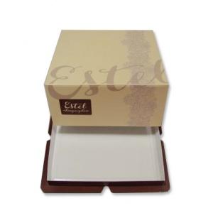 Картонная тортовая упаковка 230х230х100