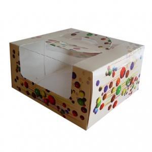 Бумажная тортовая упаковка 230х220х120 - 1,2 кг.