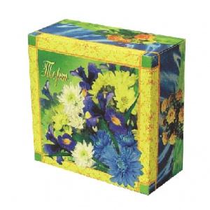Бумажная тортовая упаковка 210х210х100 - 1 кг.